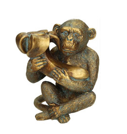 Monkey and banana candlestick