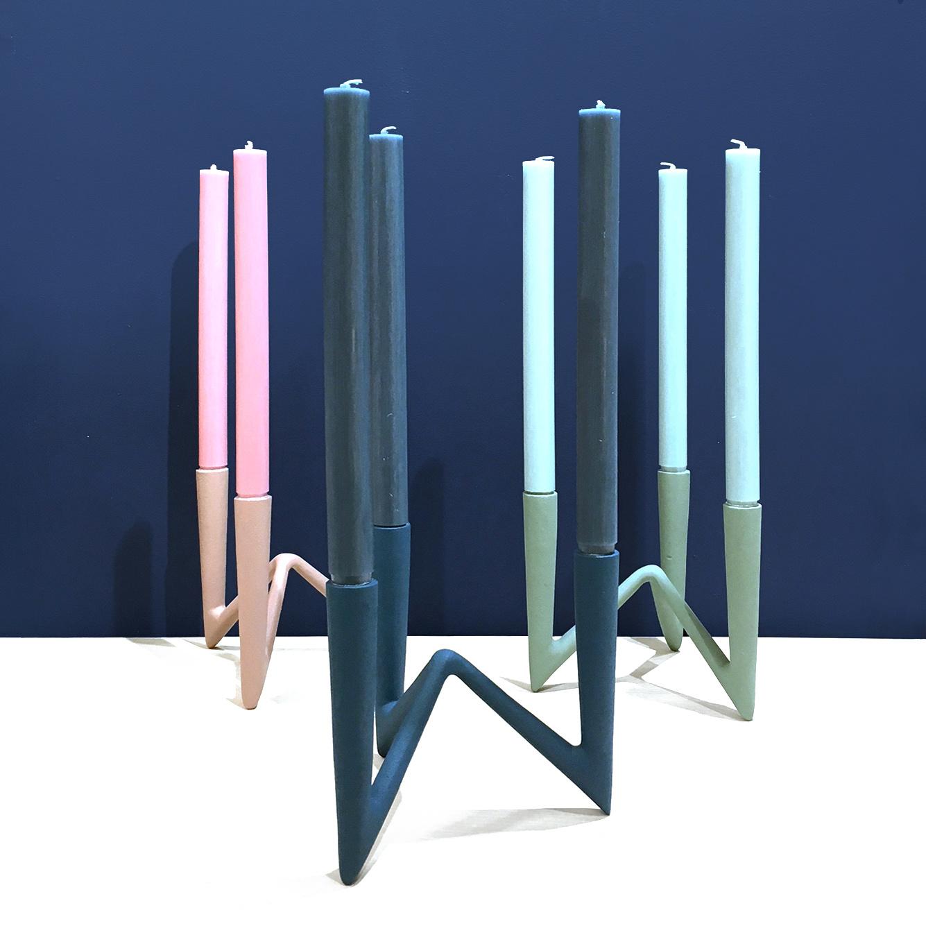Modern design candle holder for 3 candles