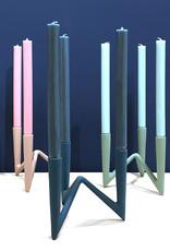Strakke design kandelaar met 3 armen