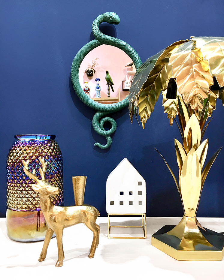 Gouden palmboom taffellamp