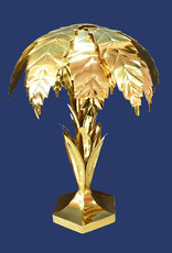 Gold palm tree table light