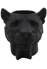 Black leopard tealight holder