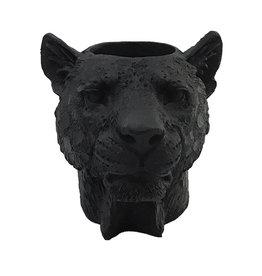 Leopard tealight holder