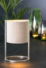 "Velvet and chrome luxury table lamp ""Ceylo"""