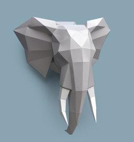 Papieren olifant  / Grijs