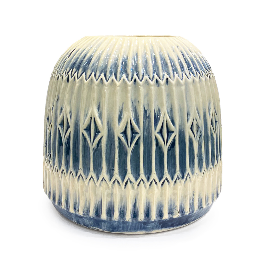 Large ceramic retro design vase