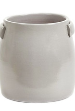 Grey planter for indoor and outdoor use
