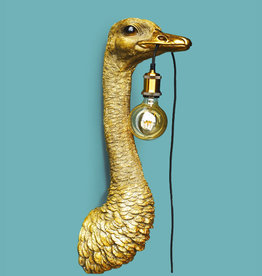 Gold ostrich lamp