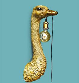 Struisvogel wandlamp