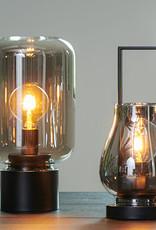 """Modern smoked glass table lamp """"Nanto"""""""