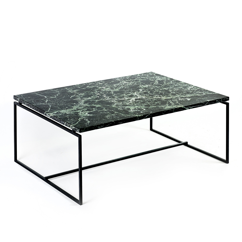 Modern design green marble coffee table