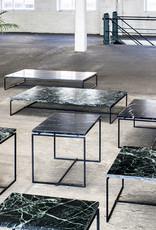 Moderne strakke design salontafel van zwart marmer