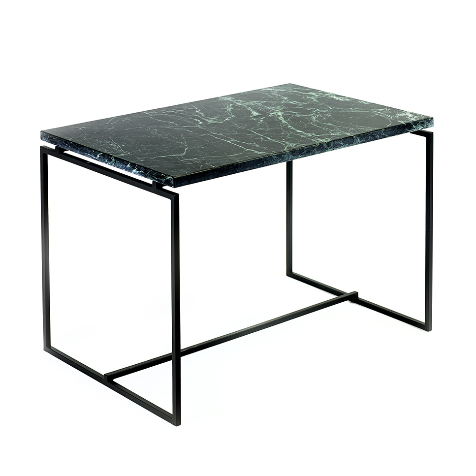 Modern design green marble side table