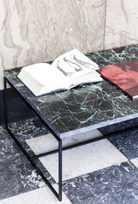 Modern design black marble side table