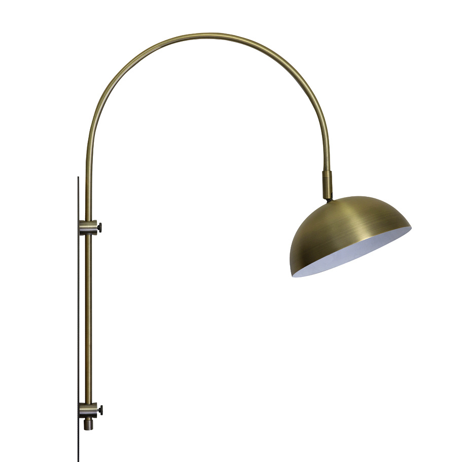 "Gold metal wall lamp ""Jens"""