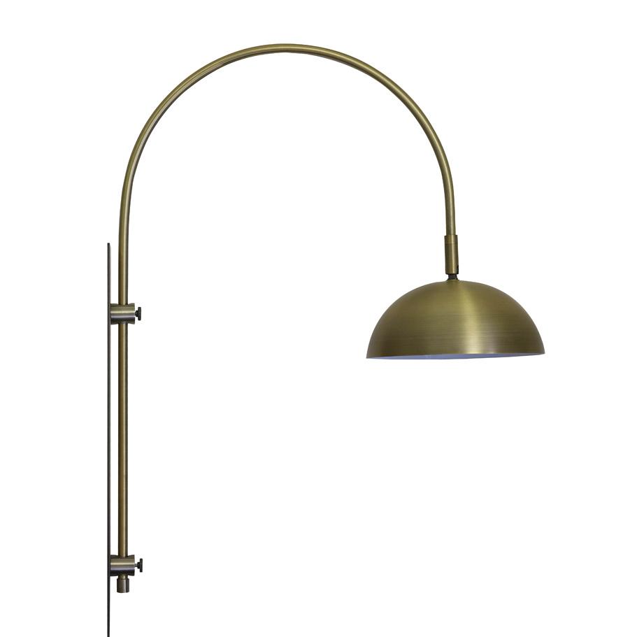 "Goud metaal draaibare wandlamp ""Jens"""