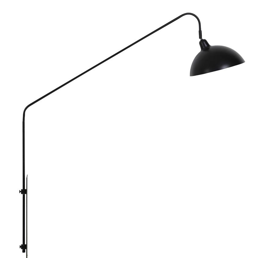"""Strak design wandlamp van zwart metaal """"Lee"""""""