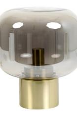 "Modern smoked glass table lamp ""Ninko"""