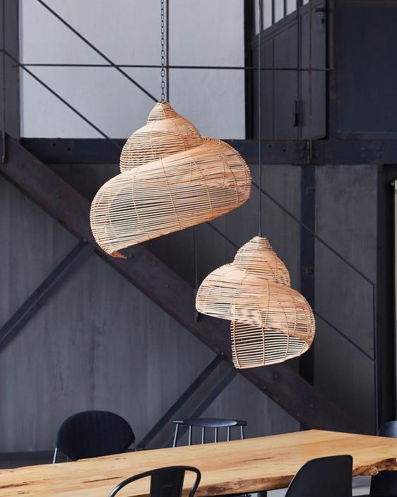 """Modern design rattan pendant light """"Shell"""""""
