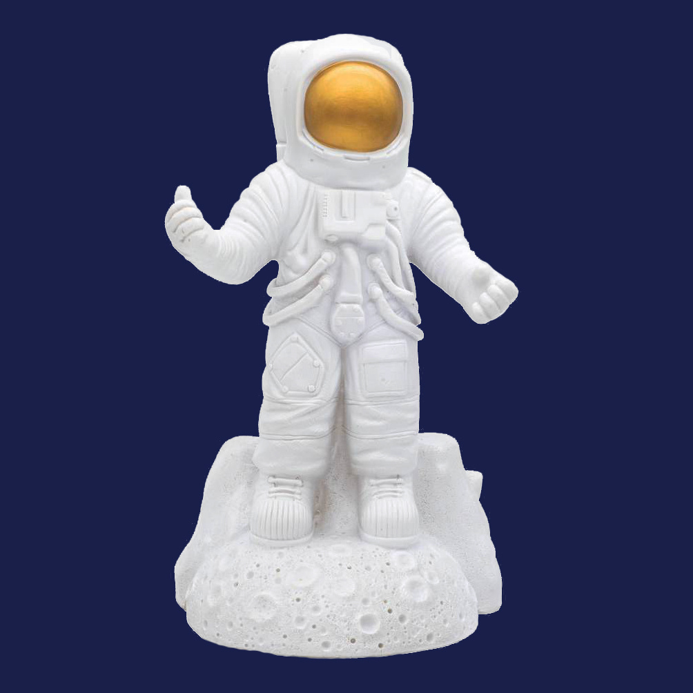 Design tafellamp in de vorm van een astronaut