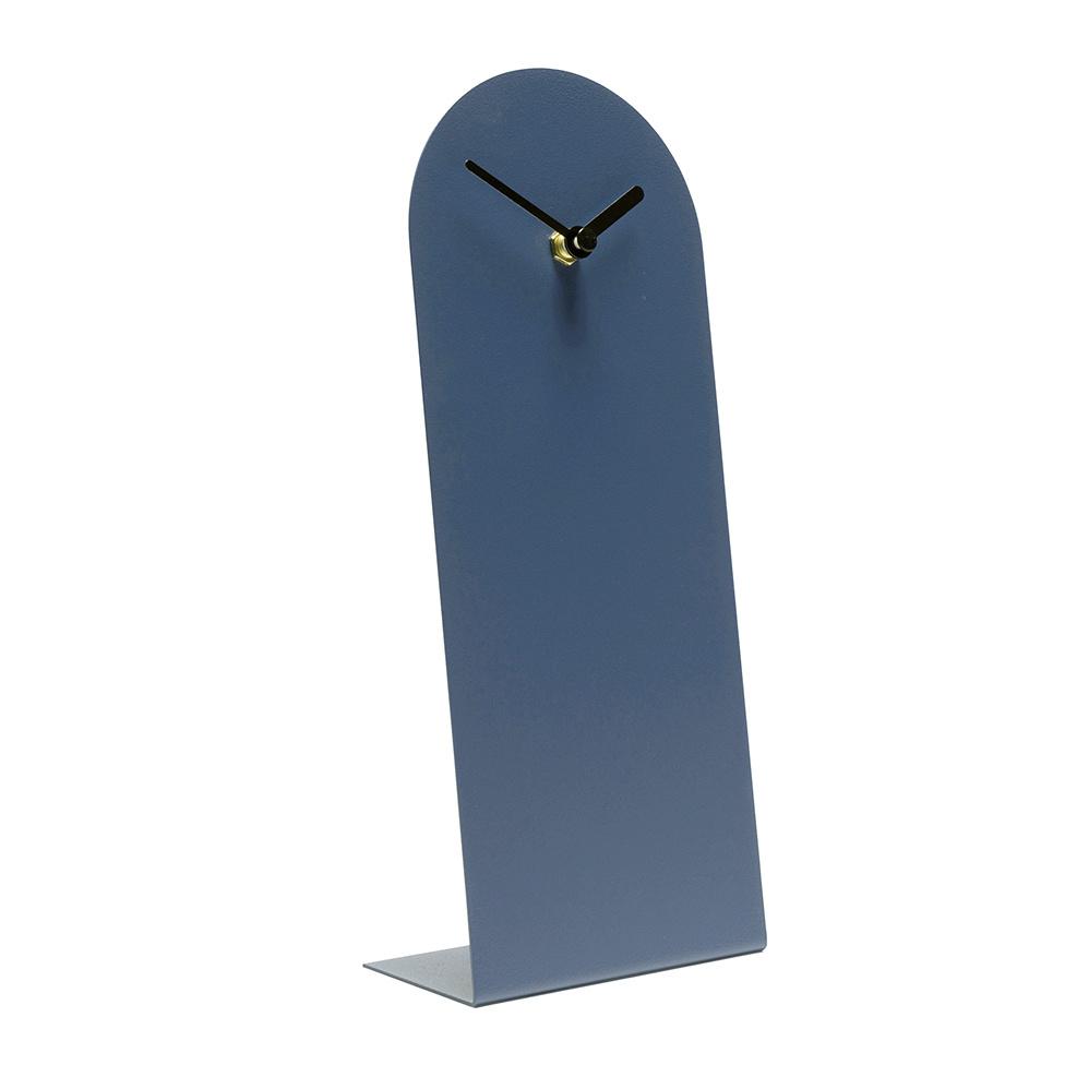 Modern Dutch design table clock in blue