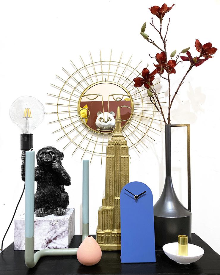 "Modern design candle holder ""Bend"" in green"