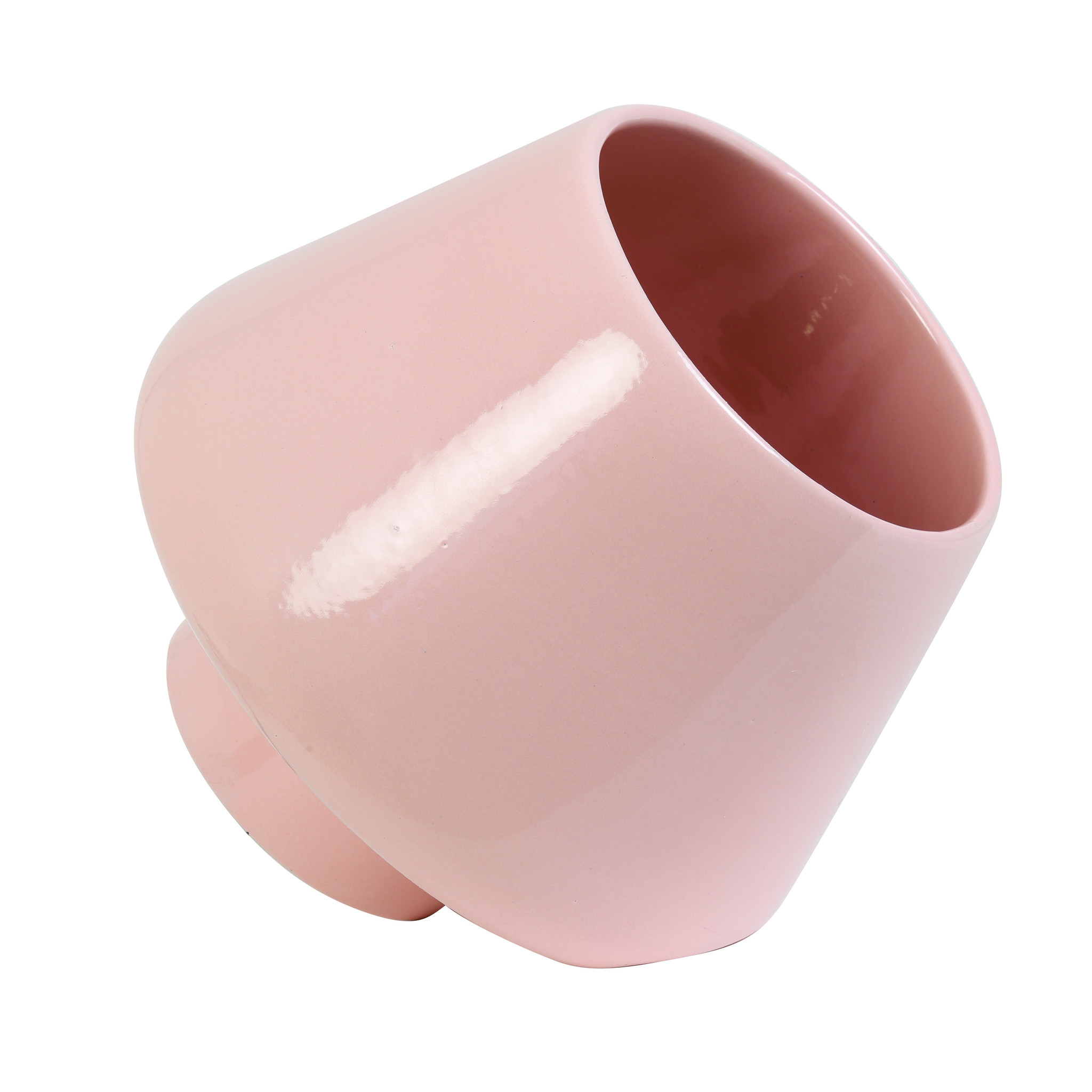 Design tafellamp van roze keramiek