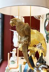 Gold parrot pendant light