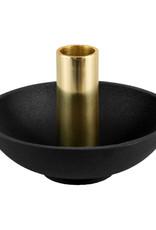 """Zwart metaal design kandelaar """"Disc"""""""