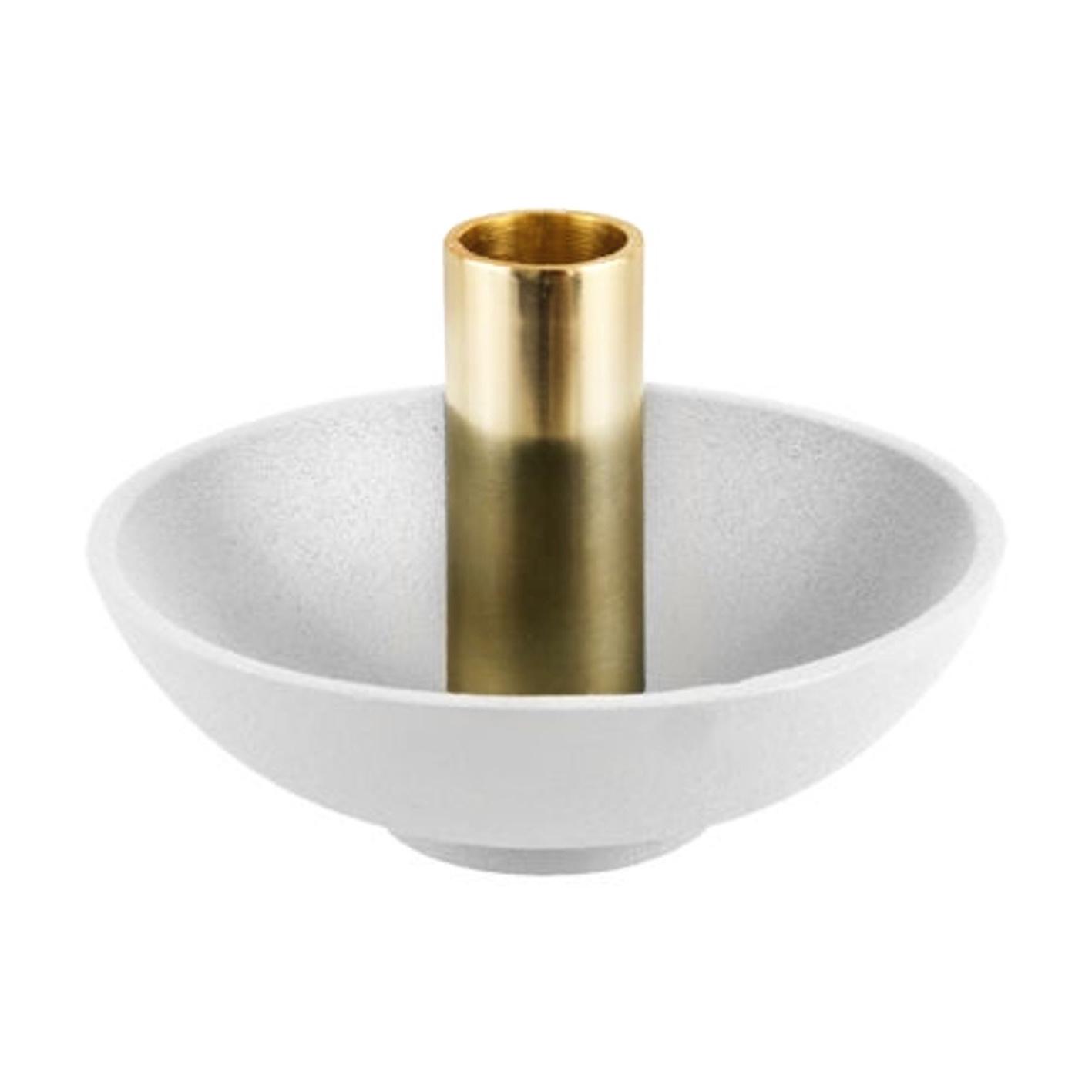 "Modern design white candlestick ""Disc"""