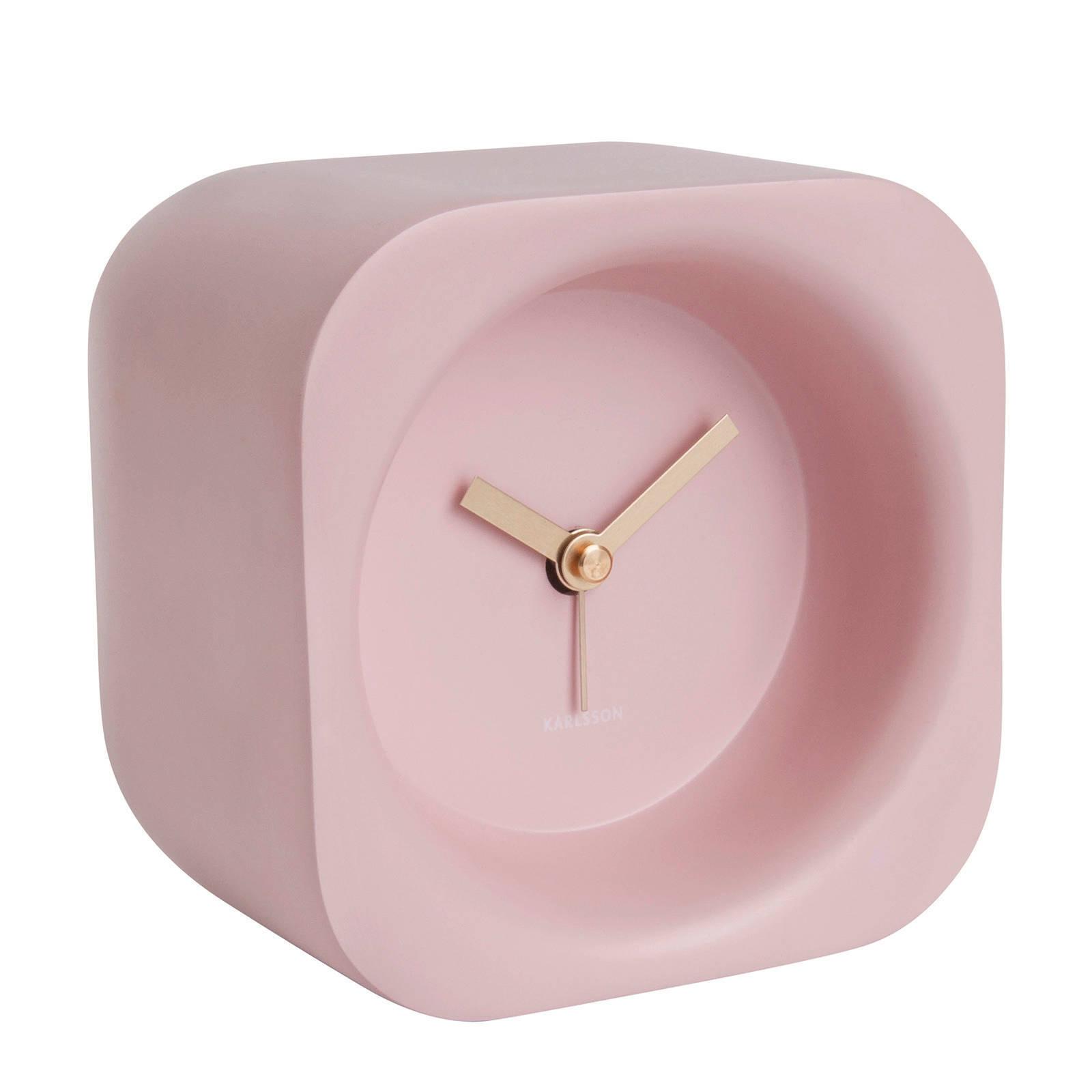 Roze design wekker
