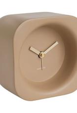 Modern design alarm clock in beige