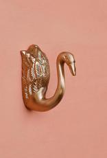 Gold metal swan coat hook