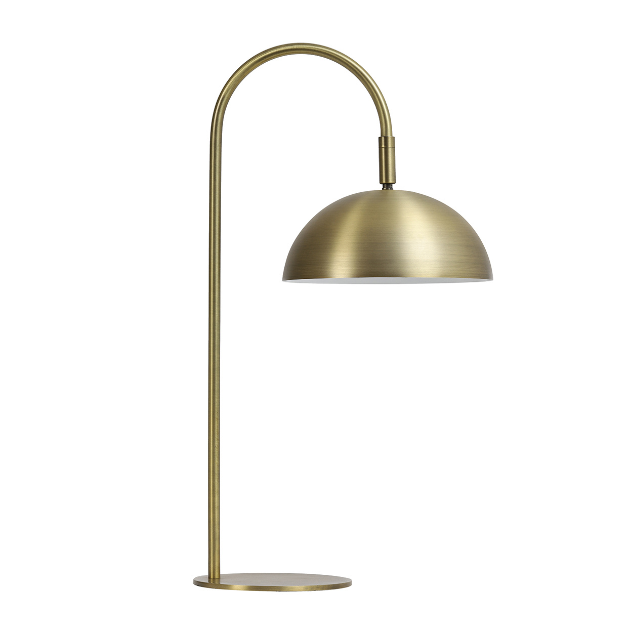 "Modern design table lamp ""Oskar"" in matte gold"