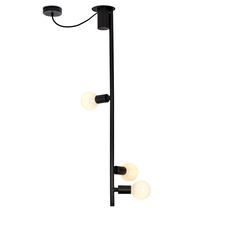 Zwarte design plafondlamp van metaal