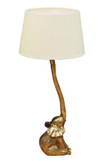 Gold elephant table lamp