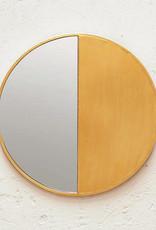 "Grote design spiegel ""Sami"" van goud metaal"