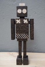 Wooden robot deco object