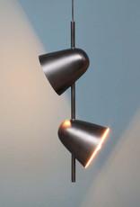 """Design hanglamp """"Duo"""" met twee spots"""