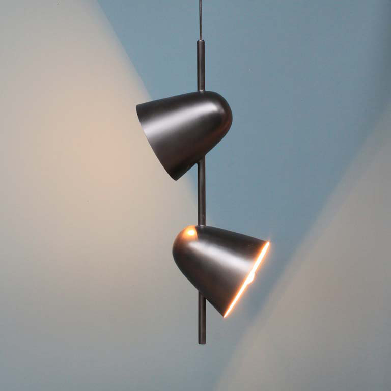 "Pendant light ""Duo"" with two shades"