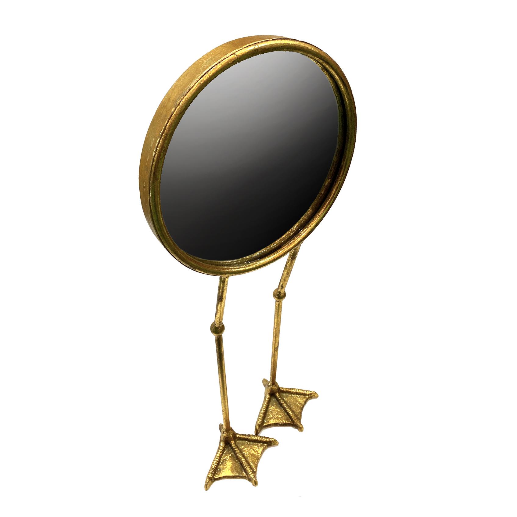 Gold bird feet mirror