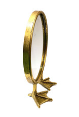 Gold bird feet mirror
