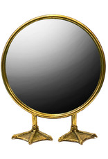 Gouden spiegel op vogelpoten