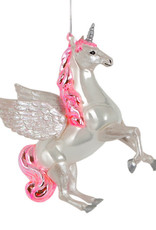 Quirky unicorn christmas tree ornament