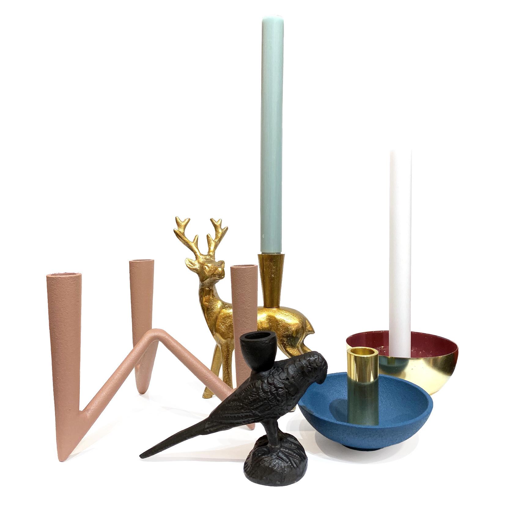 Black toucan candlestick