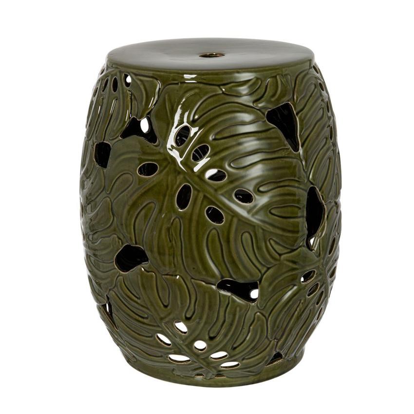 "Groene kruk of tafeltje van keramiek ""Tropical"""