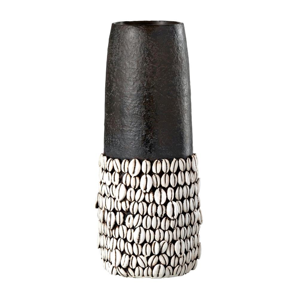 Grote design vaas met schelpen decoratie