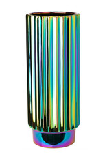 "Modern design vase ""Oily""with rainbow effect"