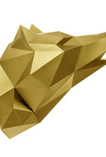 Gold paper wolf trophy head from Assembli