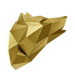 Papieren Wolf / Goud